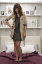 Old Navy coat - Forever 21 dress - vintage shoes