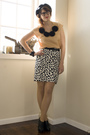 Beige-ruche-blouse-white-target-skirt-black-anne-michelle-shoes