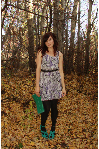 green Aldo shoes - purple Urban Outfitters dress