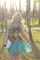 turquoise blue floral Darling Clothes dress