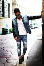 navy denim Diesel vest - navy Zara shoes - navy Zara jeans
