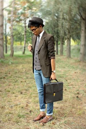 polka dots vintage tie - skinny jeans Levis jeans