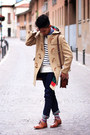 Nude-duffle-coat-cortty-coat-ivory-striped-zara-sweater