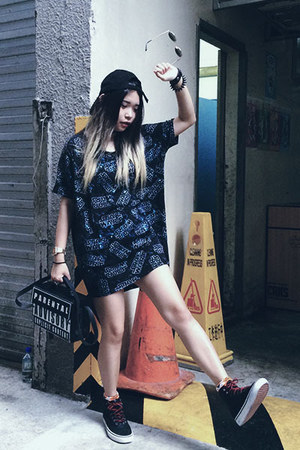 from bangkok bag - Vans shoes - from Korea hat - black Vans sneakers