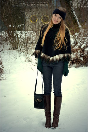 feather poncho vintage cape - vintage bag
