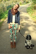 boots Deichmann shoes - jeans vintage jacket - printed New Yorker pants