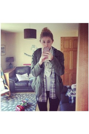 ivory Primark scarf - army green new look jacket