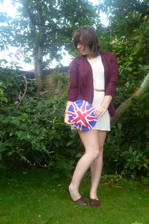 oxblood maroon Primark blazer - TKmaxx shoes - H&M dress