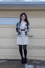 Black-urbanog-boots-cream-pleated-bb-dakota-dress-black-plaid-bb-dakota-coat