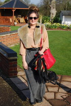 Zara bag - collar Topshop scarf - on bag vintage scarf - Primark belt