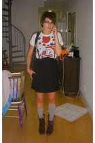 Marc by Marc Jacobs shirt - Built by Wendy skirt - American Apparel socks - Diam