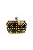 Gold Studded Skull Clutch