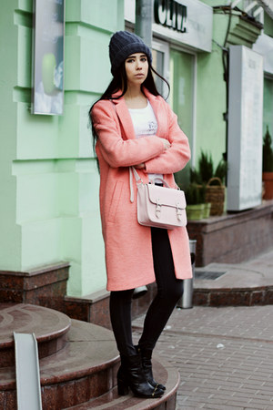 bubble gum Topshop coat - light pink Topshop bag