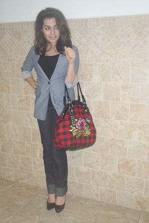 black Forever21 jeans - black Steve Madden Madden shoes - red Betsey Johnson pur