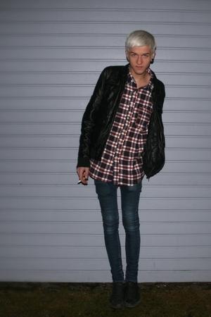 jacket - Cheap Monday jeans - poco loco shirt - nike shoes
