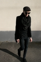 blazer - Cheap Monday jeans - H&M shoes - H&M scarf - Solid Jeans t-shirt - H&M