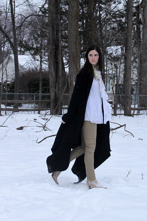 neutral michel perry boots - black Rick Owens sweater - white Elizabeth & James