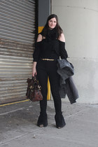 heather gray Givenchy boots - black Givenchy shirt - brown leopard alexa Mulberr