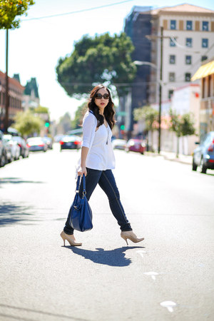 Mossimo jeans - coach bag - salt sunglasses - Chinese Laundry heels
