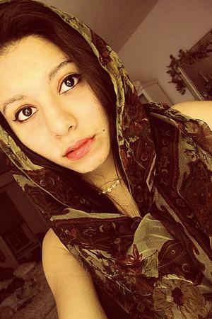 brown grandma scarf