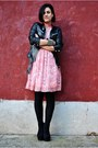 Black-zara-jacket-bubble-gum-united-colors-of-benetton-dress-black-amisu-sho