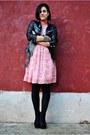 Black-zara-jacket-bubble-gum-united-colors-of-benetton-dress-black-amisu-sho