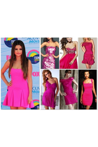 hot pink bandage dress Sherri Hill dress - hot pink Sherri Hill dress