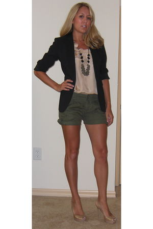 Express blazer - JCrew blouse - Forever 21 shorts - banana republic necklace - G