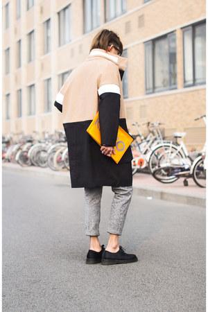 DKNY coat - mesh pouch Kenzo bag - sheer knit Alexander Wang t-shirt