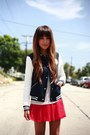 Navy-varsity-random-brand-jacket-navy-suede-tila-march-paris-boots