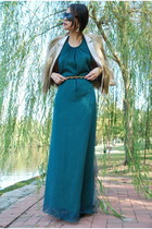 teal silk chiffon Jolie & Elizabeth dress
