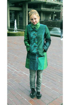 dark green desigual coat - heather gray joe browns jeans