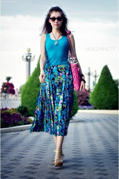 vintage skirt - unknown bag - Fantosh top