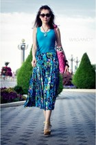 vintage skirt - unknown bag - Fantosh top