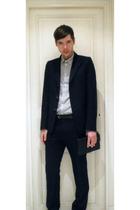 APC suit - APC shirt - vintage accessories