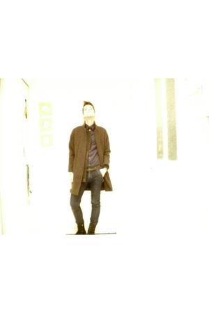 vanessabruno coat - APC shirt - vanessabruno jeans - 0044 boots