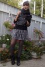 Gray-stradivarius-skirt