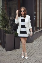 white Mango dress - white Zara heels