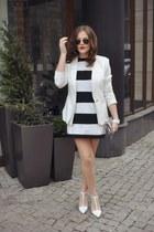 white Mango dress - white Zara heels