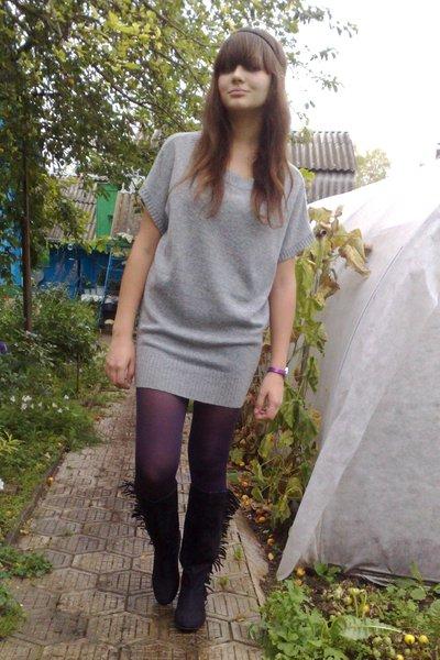 Zara sweater - H&M boots