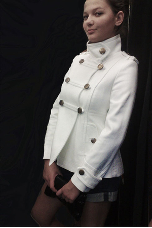 white Mango jacket