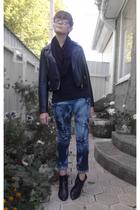 Concept club jacket - H&M scarf - Mango jeans - Zara boots