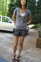 American Apparel t-shirt - forever 21 shorts - Old Navy shoes
