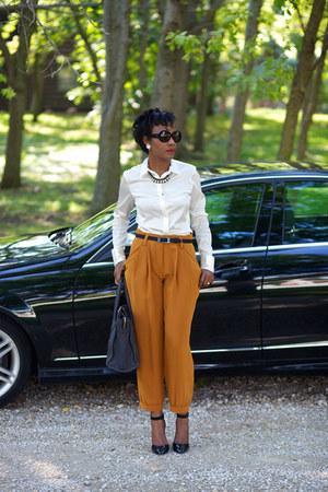 Sonia Rykiel pants - Celine bag - emporio armani sunglasses - ann taylor blouse