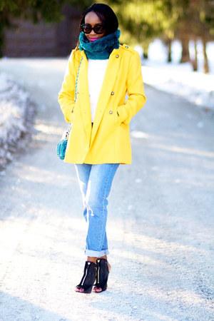 BB Dakota blazer - Zara jeans - asos scarf - Givenchy heels