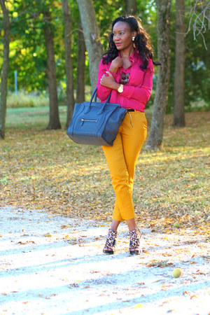 calvin klein shoes - Celine bag - H&M pants - Forever21 blouse