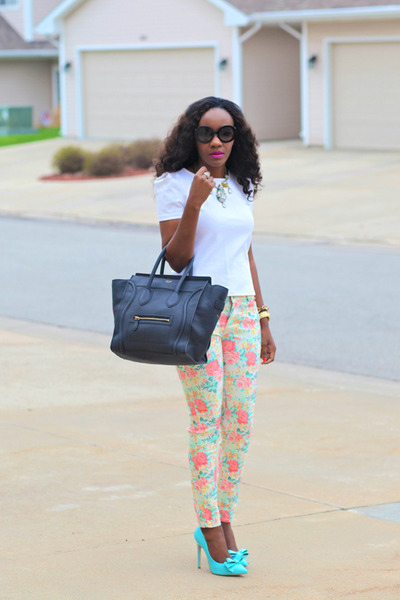 Zara jeans - Celine bag - Prada sunglasses - asos pumps - ann taylor necklace