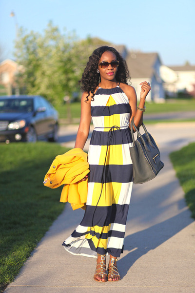 Maggie London dress - Celine bag - tory burch sandals