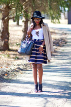 kate spade skirt - ann taylor coat - rag & bone hat - Celine bag