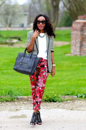 ruby red talbots pants - black Givenchy shoes